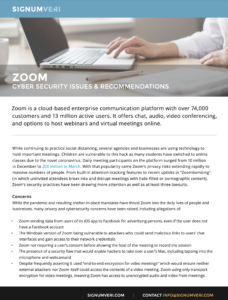 Zoom Cyber Security Issues